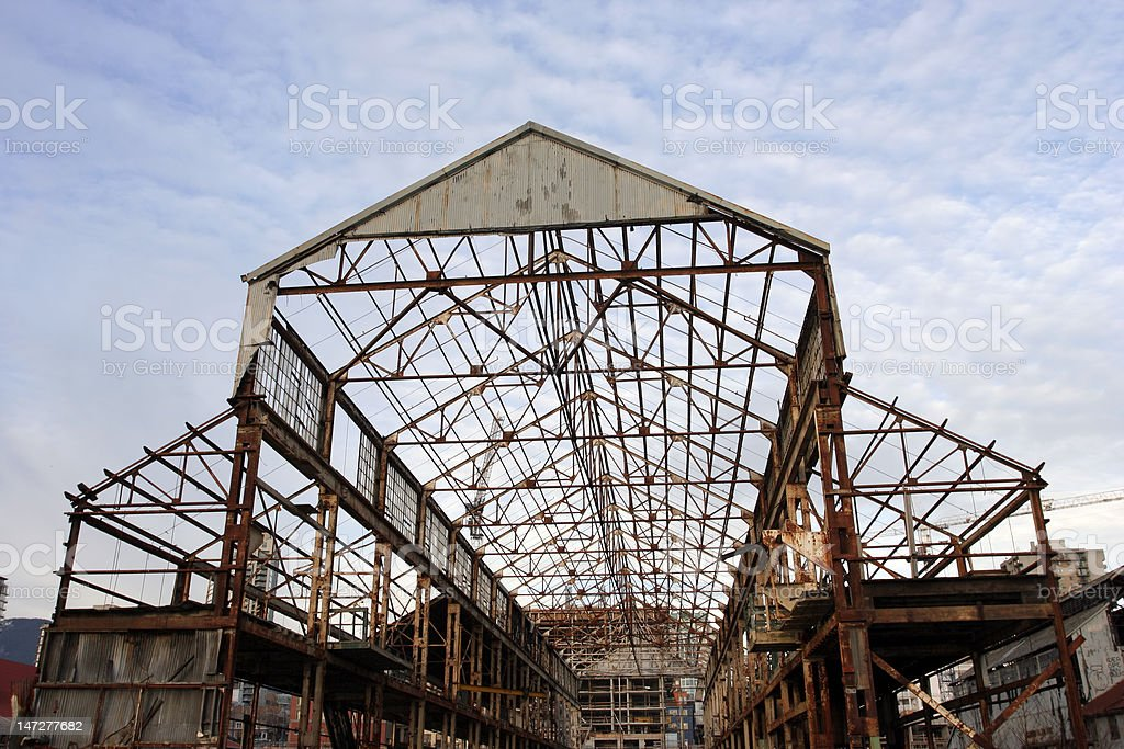 Uncovered Hangar frame royalty-free stock photo