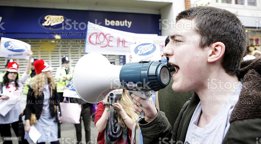 UK Uncut demonstrators royalty-free stock photo