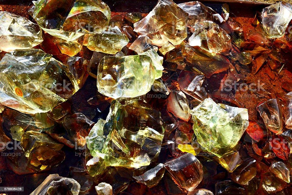 uncut glass stock photo