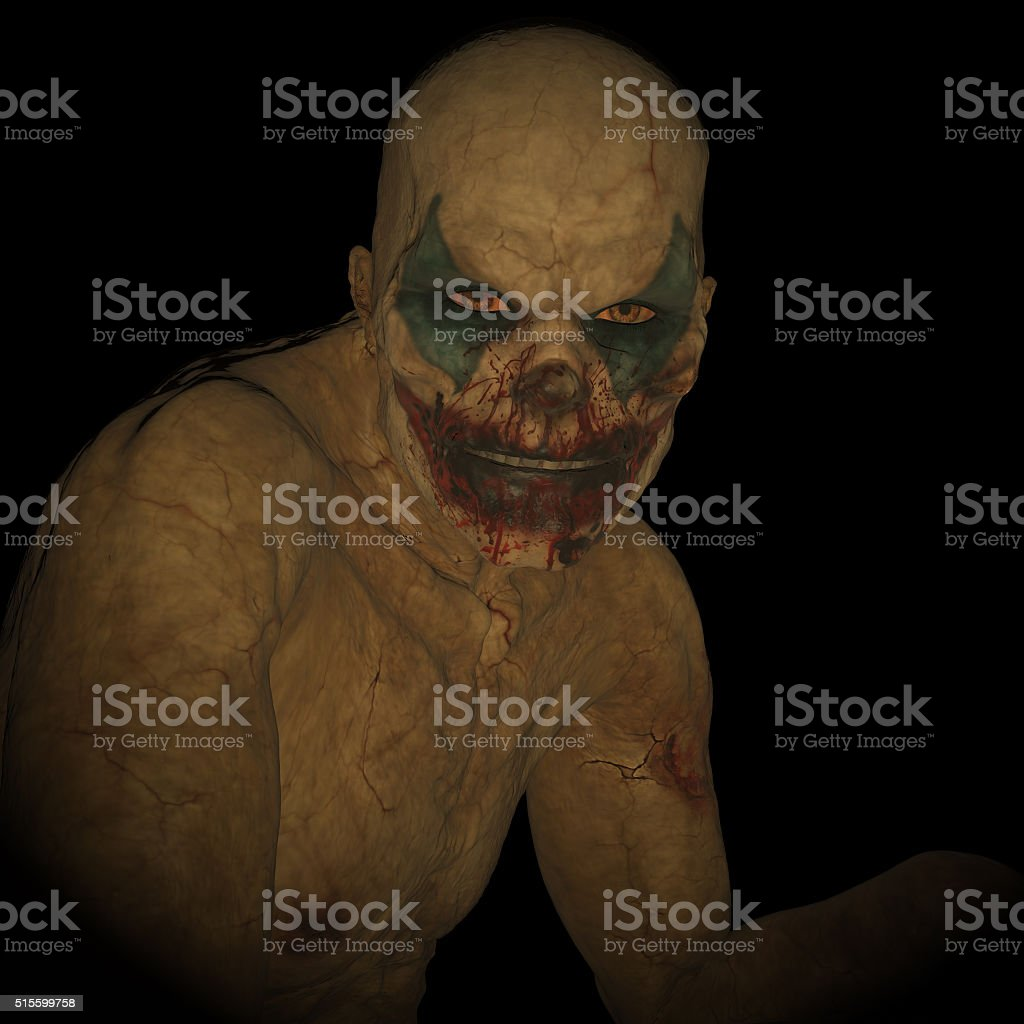 Undead clown stock photo