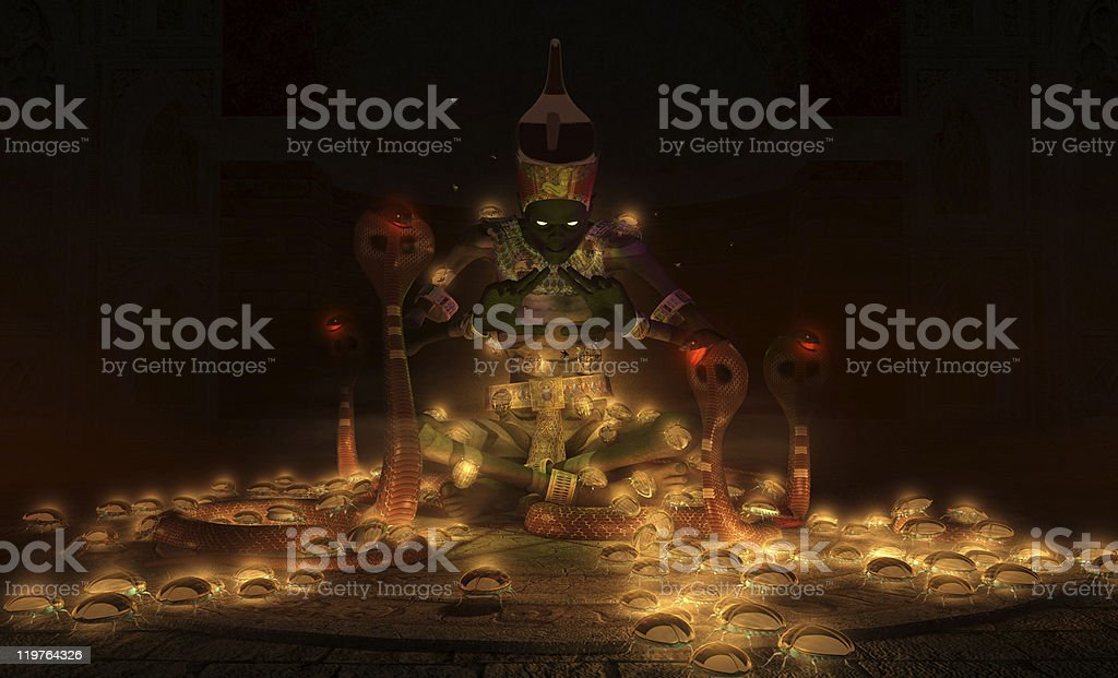 undead Egyptian sorcerer royalty-free stock photo