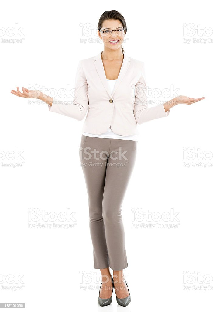 Undecided businesswoman royalty-free stock photo