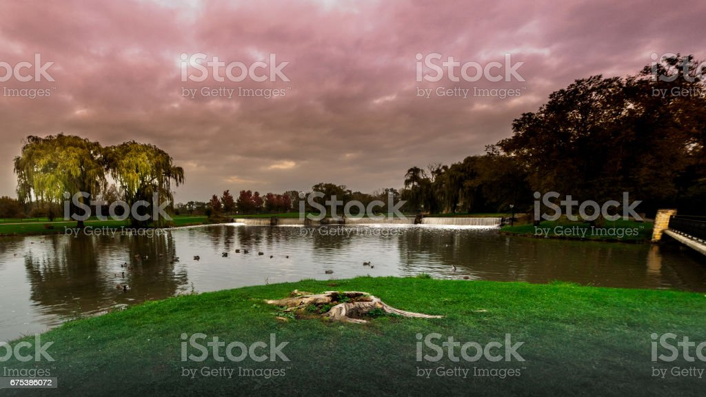 Under a Blood Red Sky stock photo