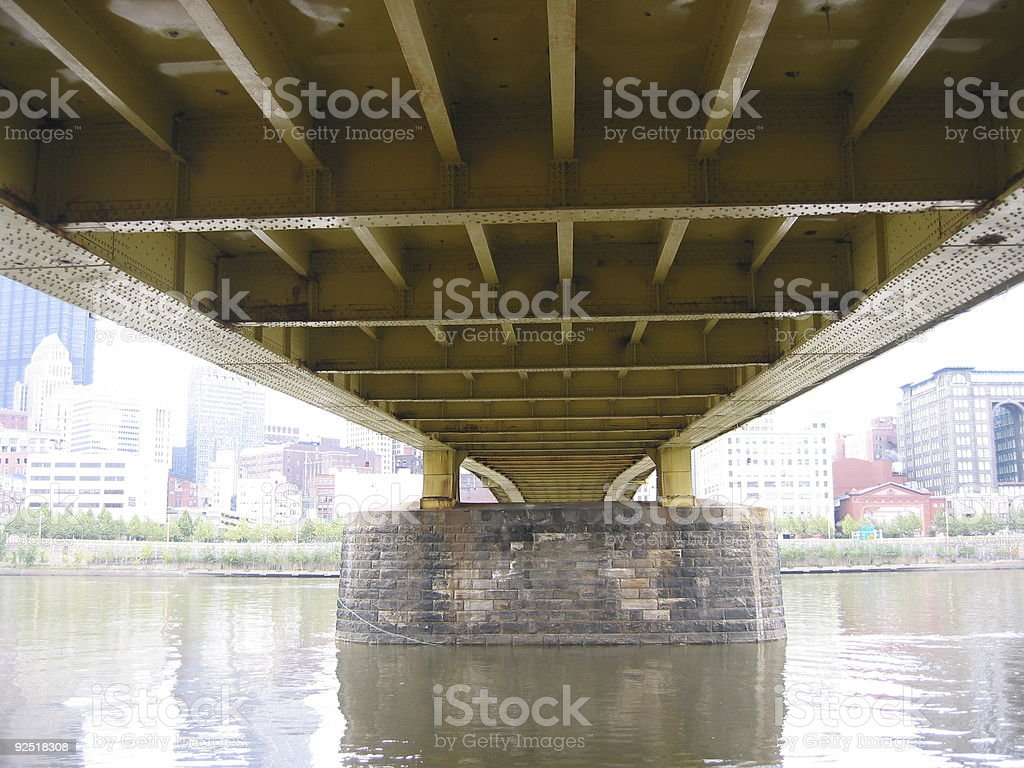 under a bridge stock photo