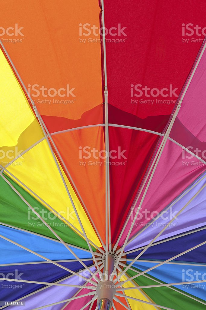 under a colorful umbrella royalty-free stock photo