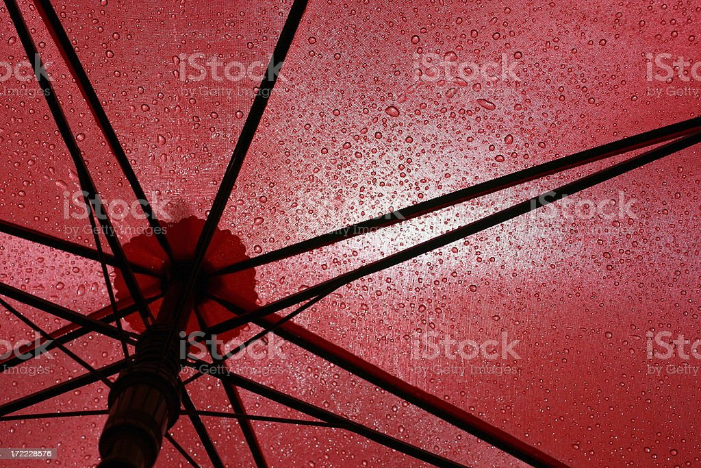 Under A Red Umbrella royalty-free stock photo