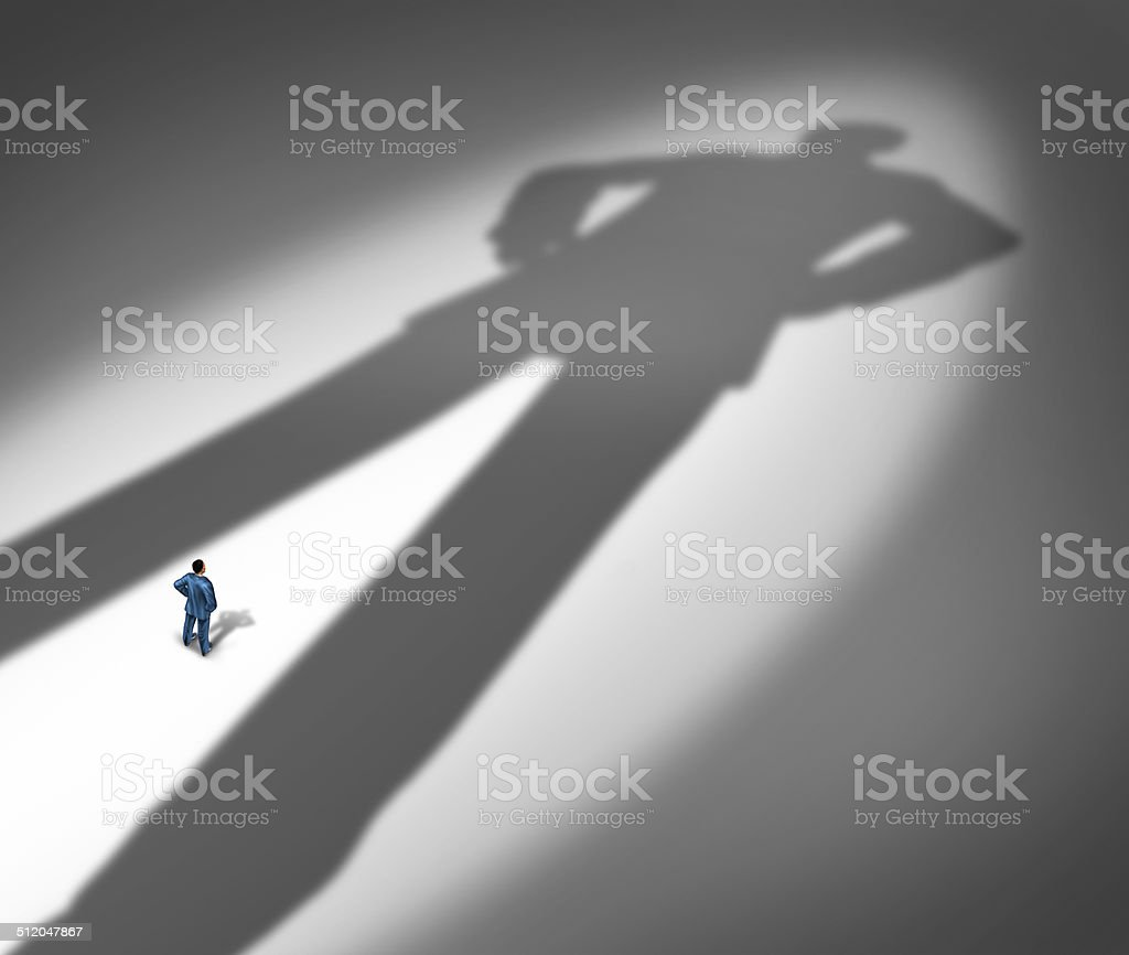 Under A Shadow stock photo