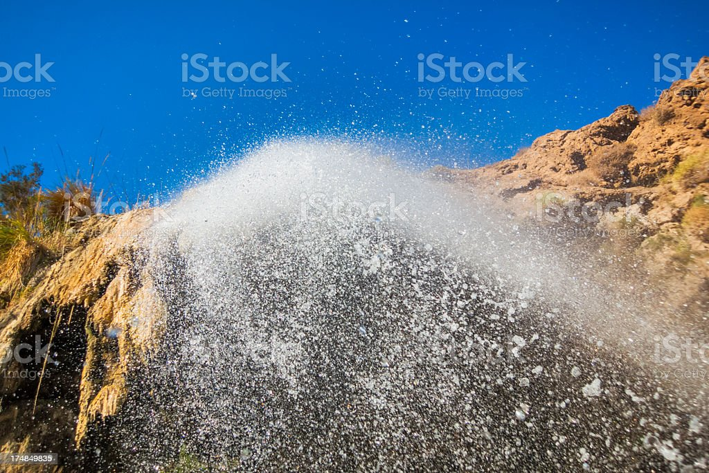 Under a Waterfall stock photo