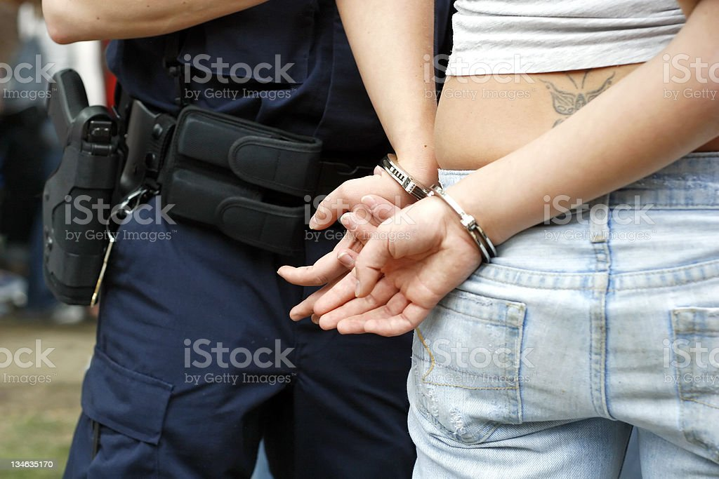Under Arrest royalty-free stock photo