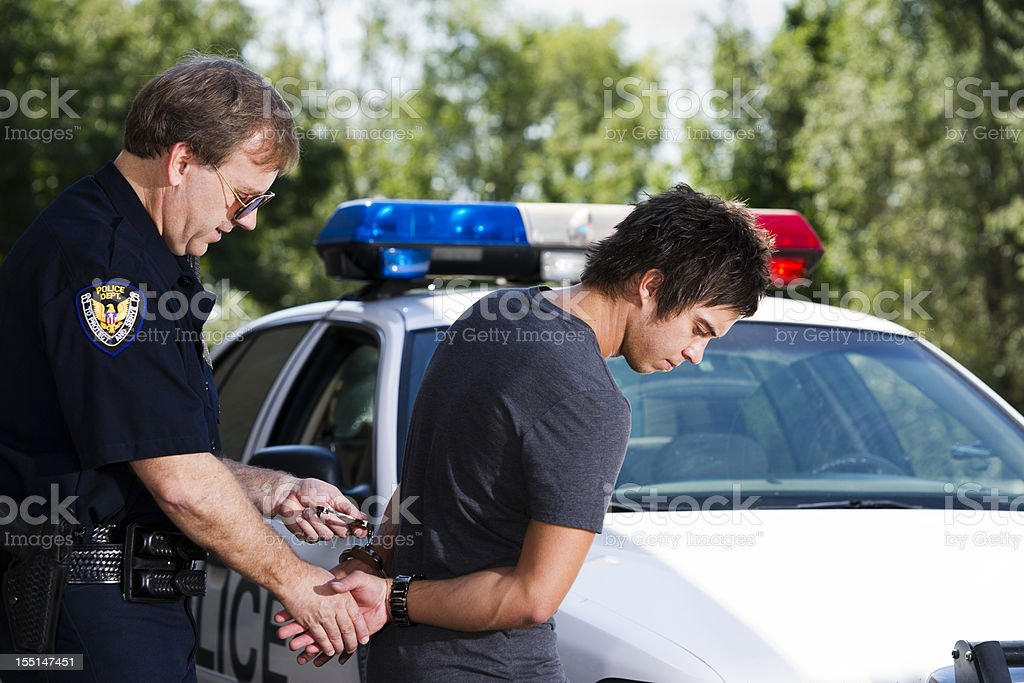 Under Arrest royalty-free stock photo
