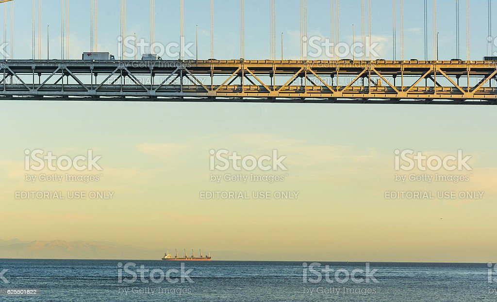 Under Bay Bridge stock photo