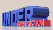 under construction 3d rendering