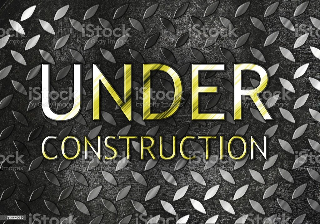 Under construction background royalty-free stock photo