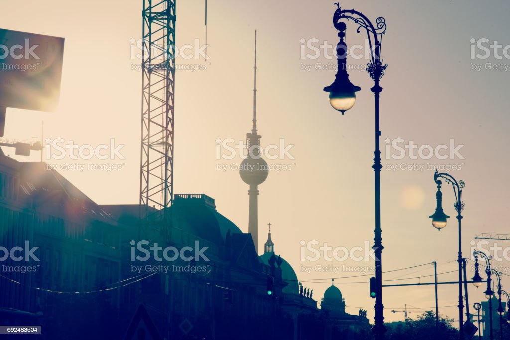Under Construction – Berlin with TV Tower stock photo