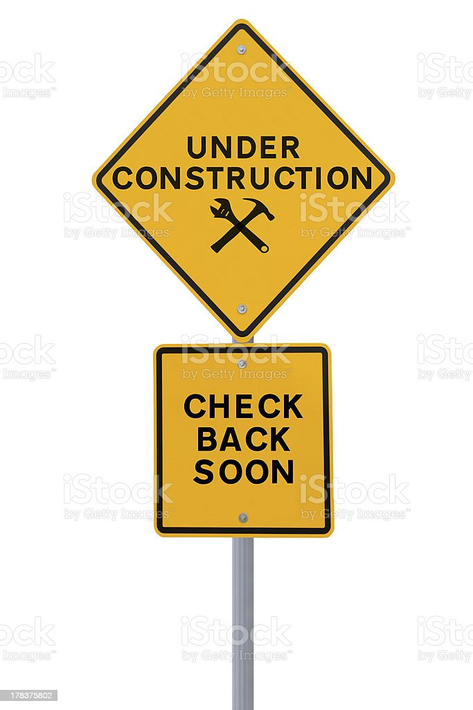 Under Construction - Check Back Soon! stock photo