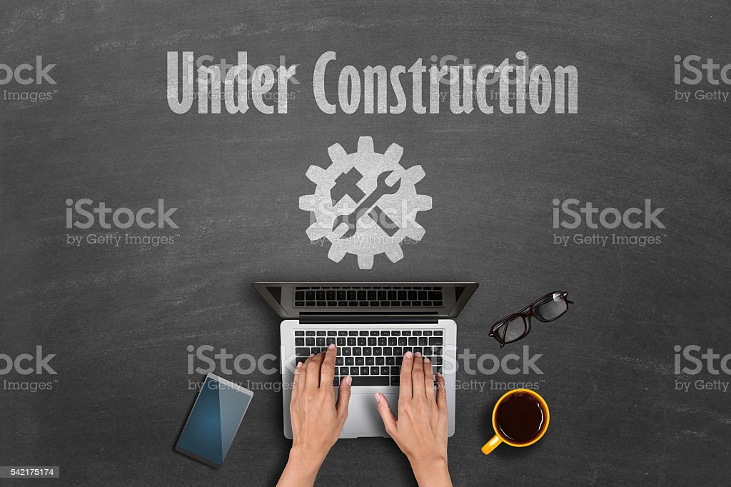 Under construction concept stock photo