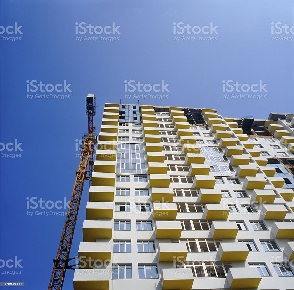 Under construction condo building. royalty-free stock photo