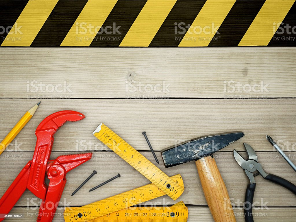 Under Construction / Do It Yourself stock photo