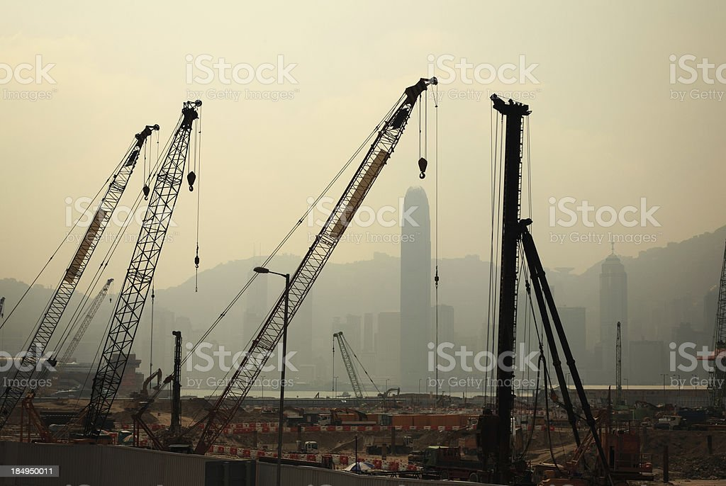 Under Construction in Hong Kong stock photo