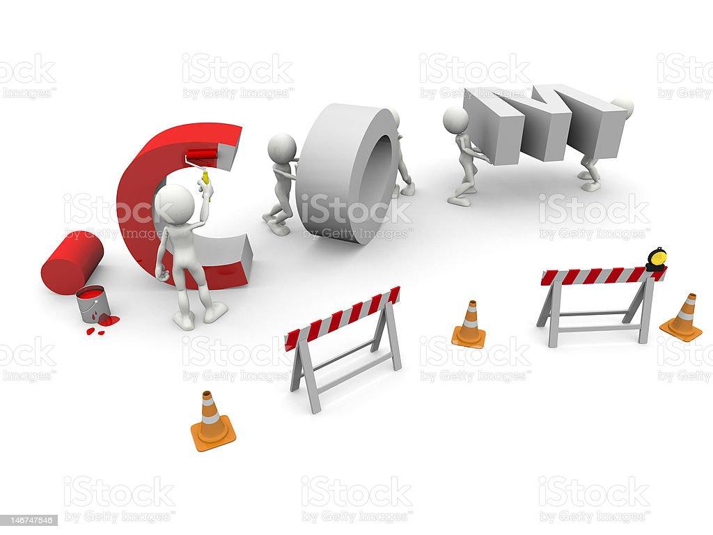 . OCM en construcción foto de stock libre de derechos