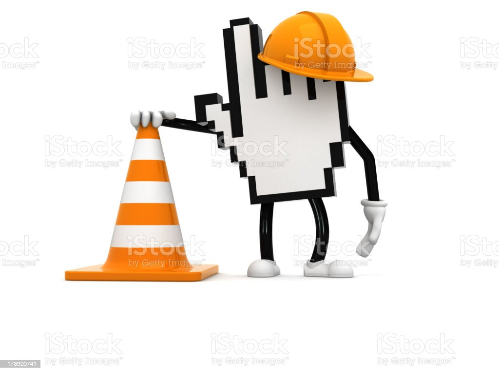WWW under construction royalty-free stock photo