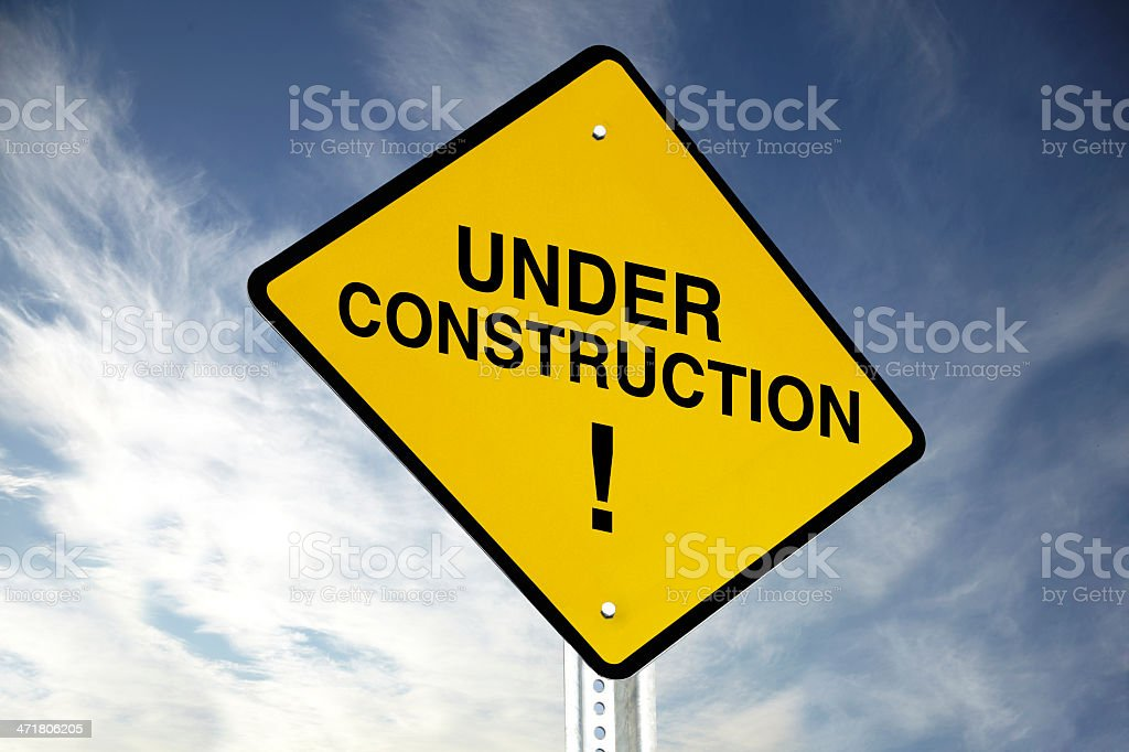 Under construction! royalty-free stock photo