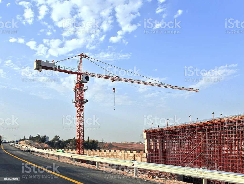 under Construction project Site stock photo