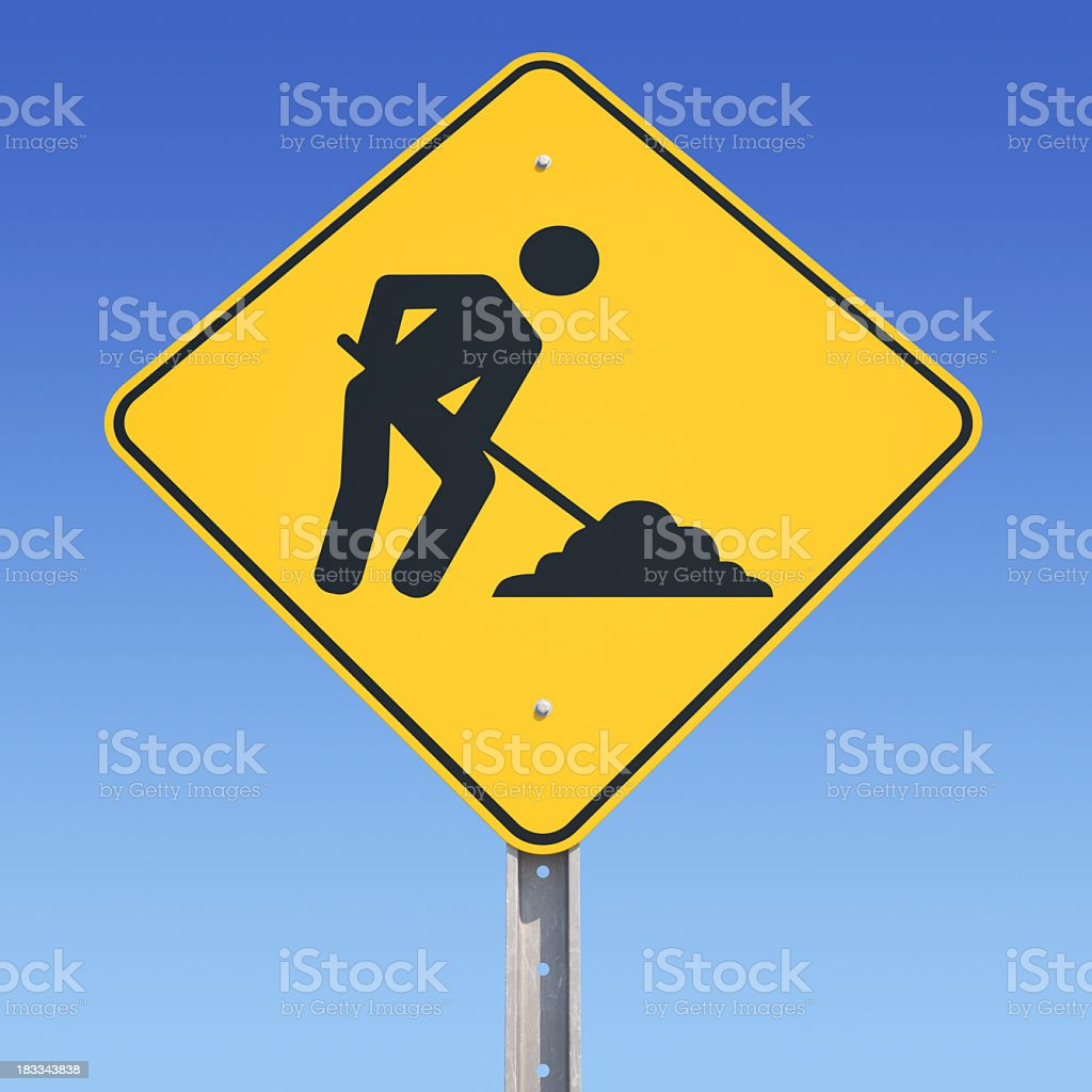 Under Construction Sign royalty-free stock photo