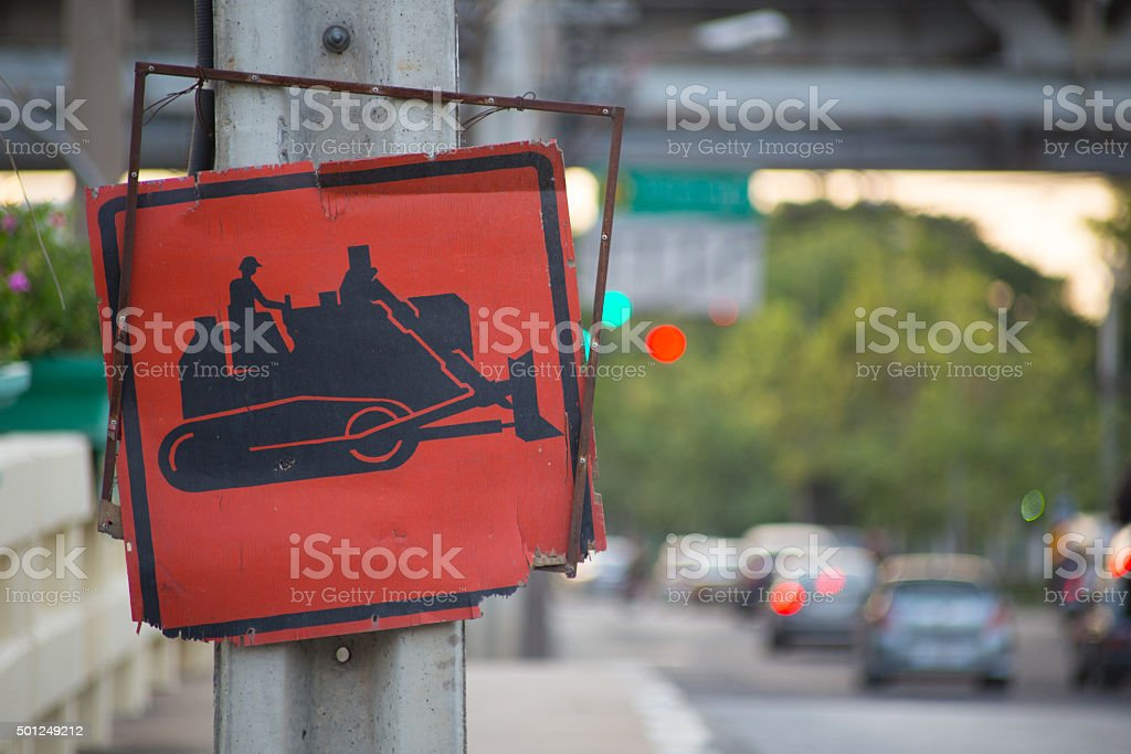 Under construction sign. stock photo