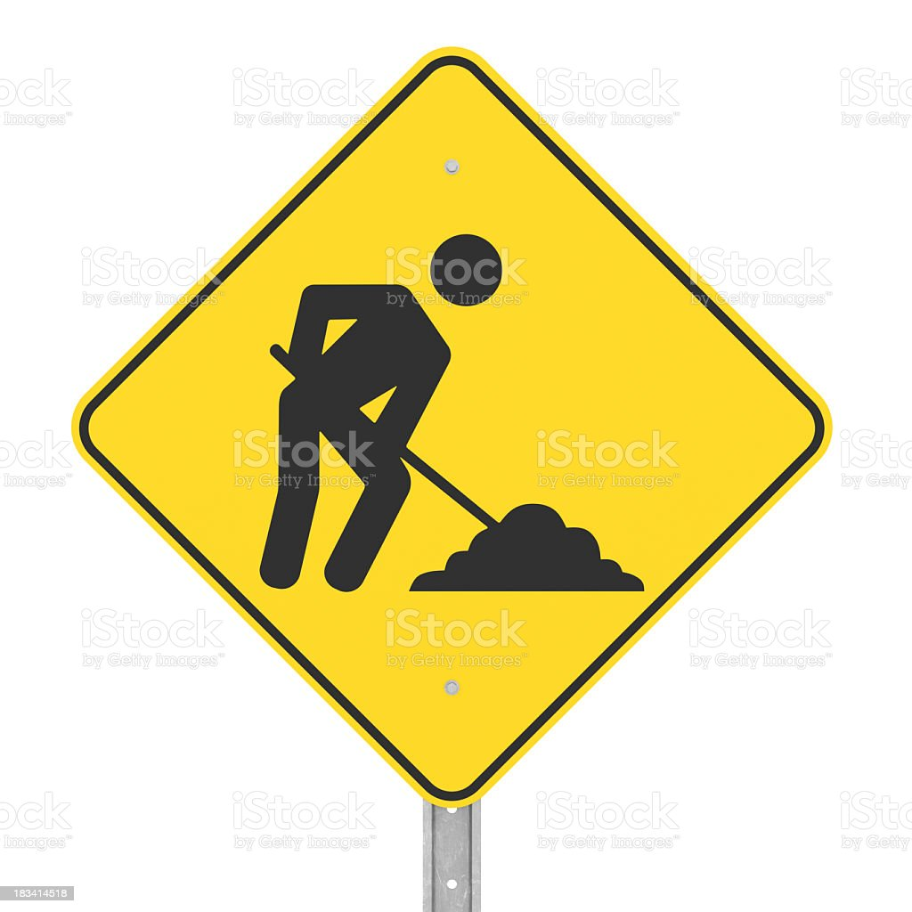 Under Construction Sign with Clipping Path stock photo