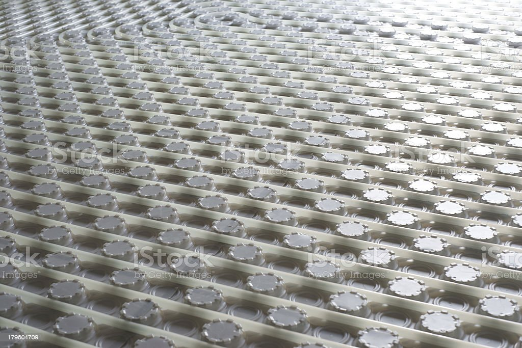 Under floor heating pipes royalty-free stock photo