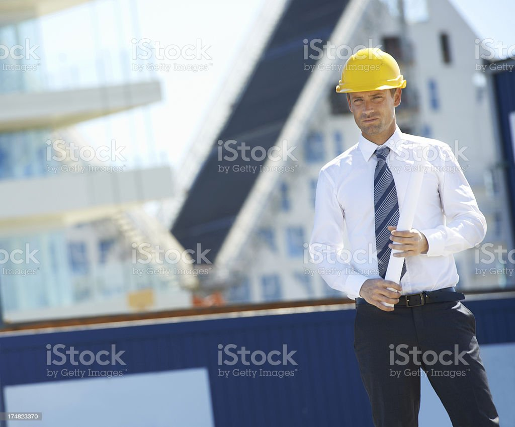 Under his watch there is no room for error royalty-free stock photo