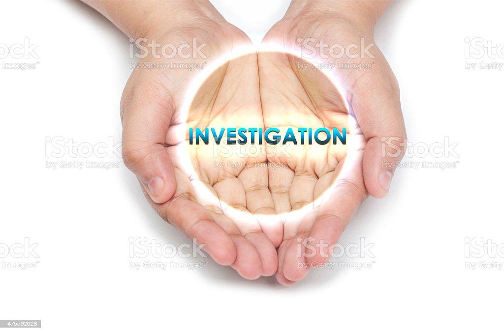 Under Investigation stock photo