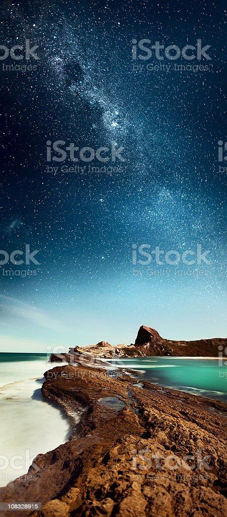 Under Milky Way stars XXXL stock photo