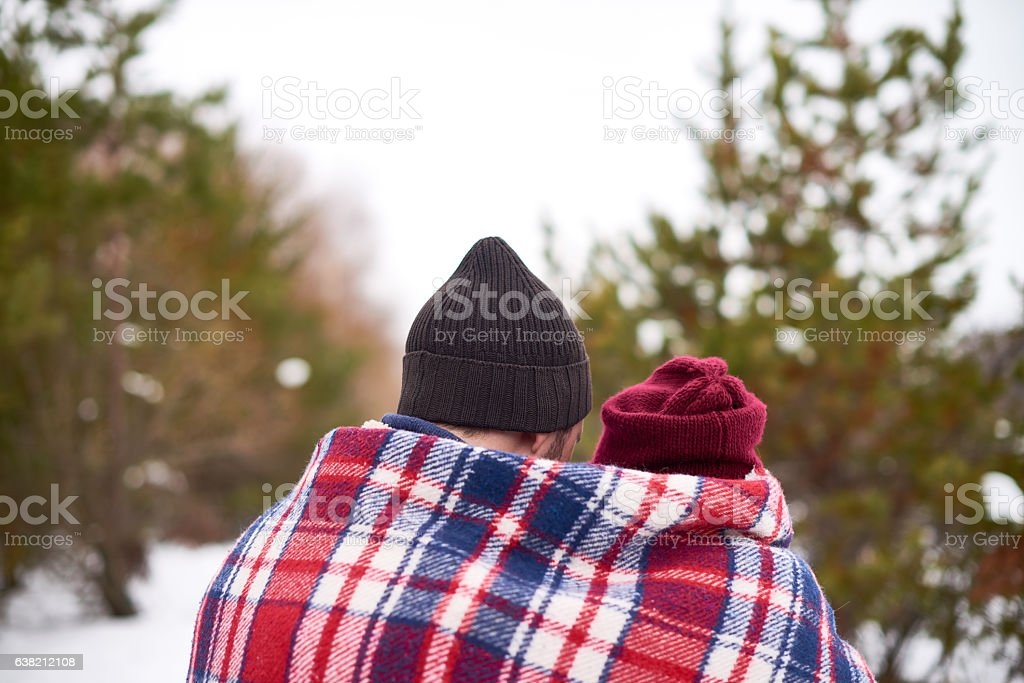 Under one plaid stock photo
