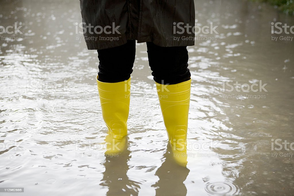 Under rain royalty-free stock photo