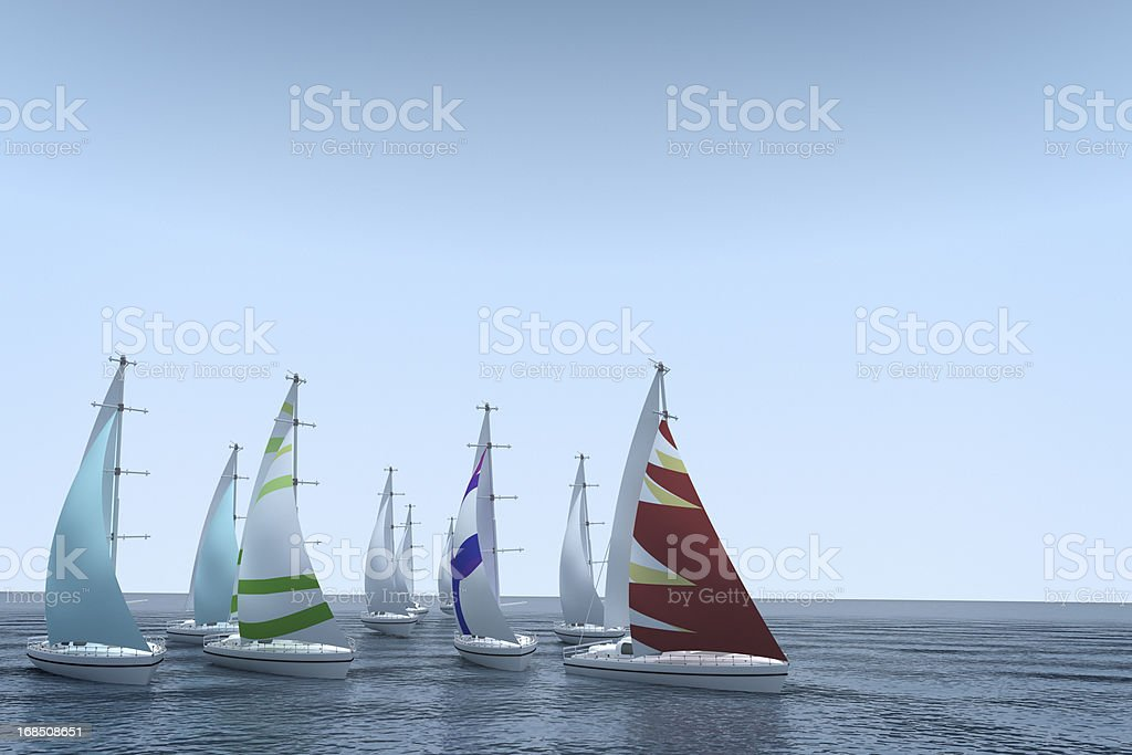 Under sail. stock photo