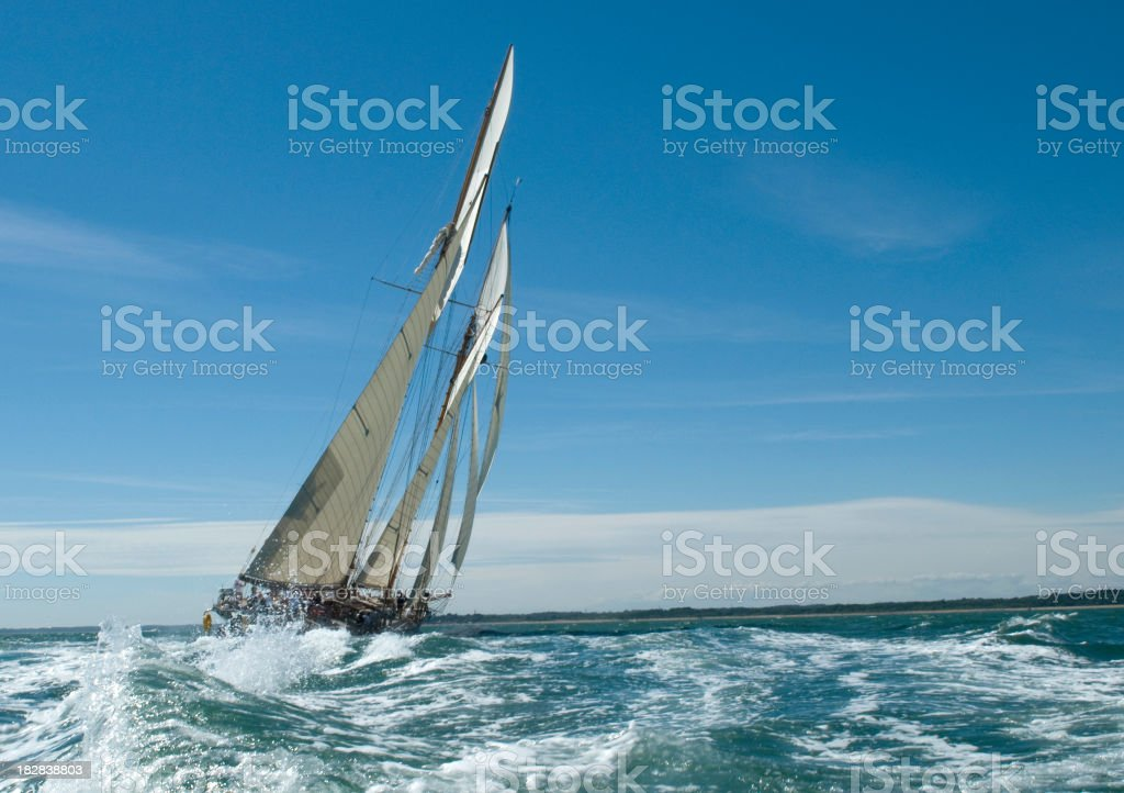 Under sail stock photo