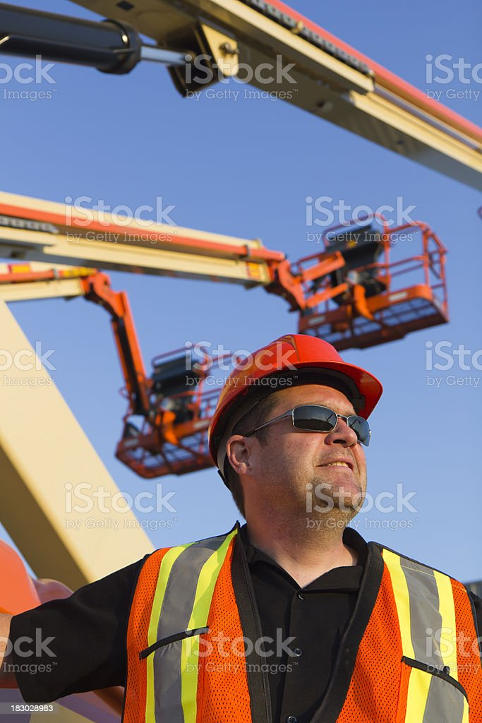 Under Some Cherry Pickers royalty-free stock photo