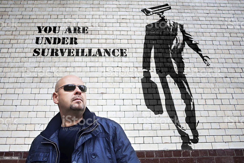 under surveillance royalty-free stock photo