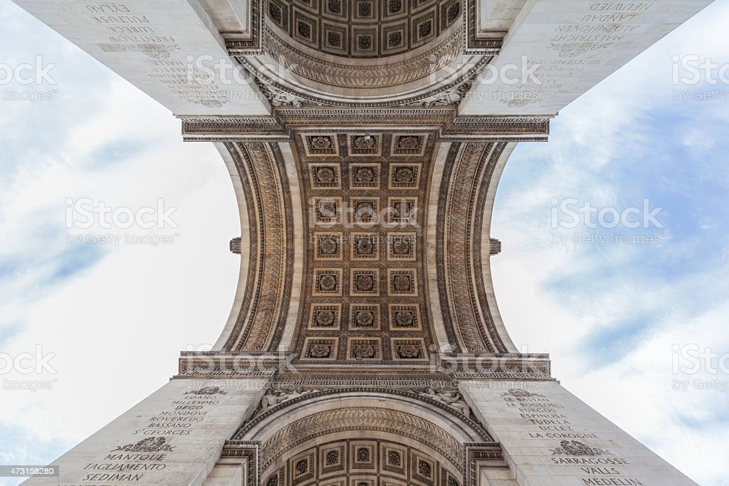 Under the Arch of Triumph of the Star stock photo