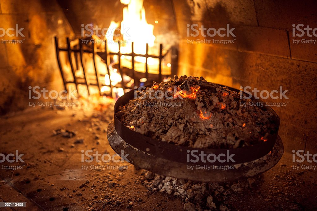 Under the Bell Cooking stock photo