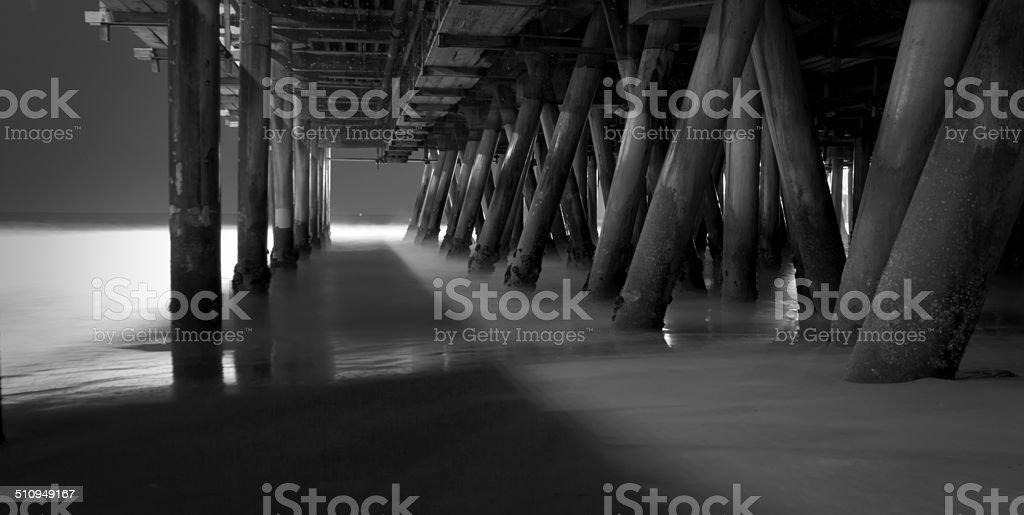Under the Boardwalk 3 stock photo