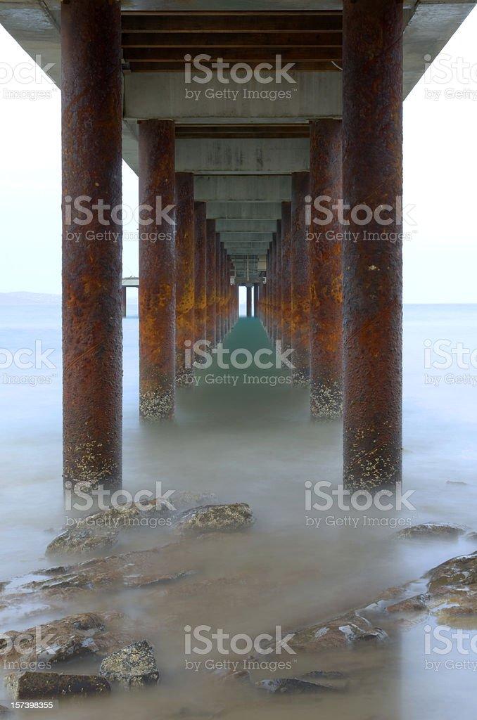 Under the boardwalk royalty-free stock photo