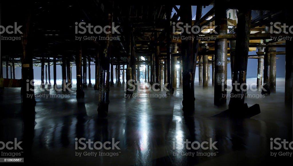 Under the Boardwalk stock photo