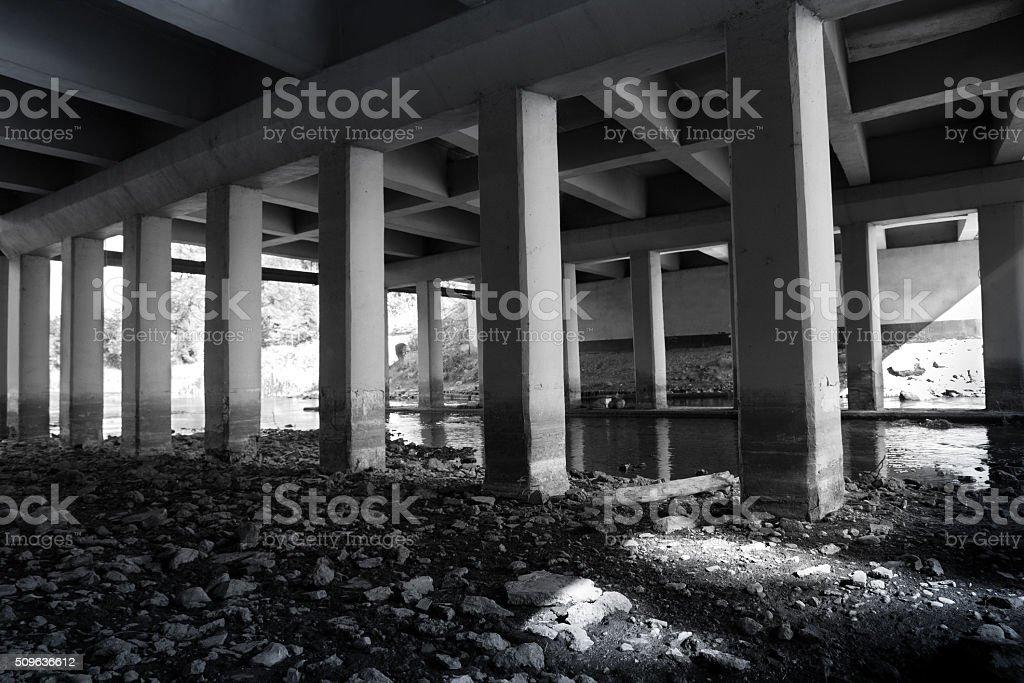 under the bridge 2 stock photo