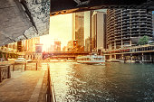 Under the Bridge at Chicago River