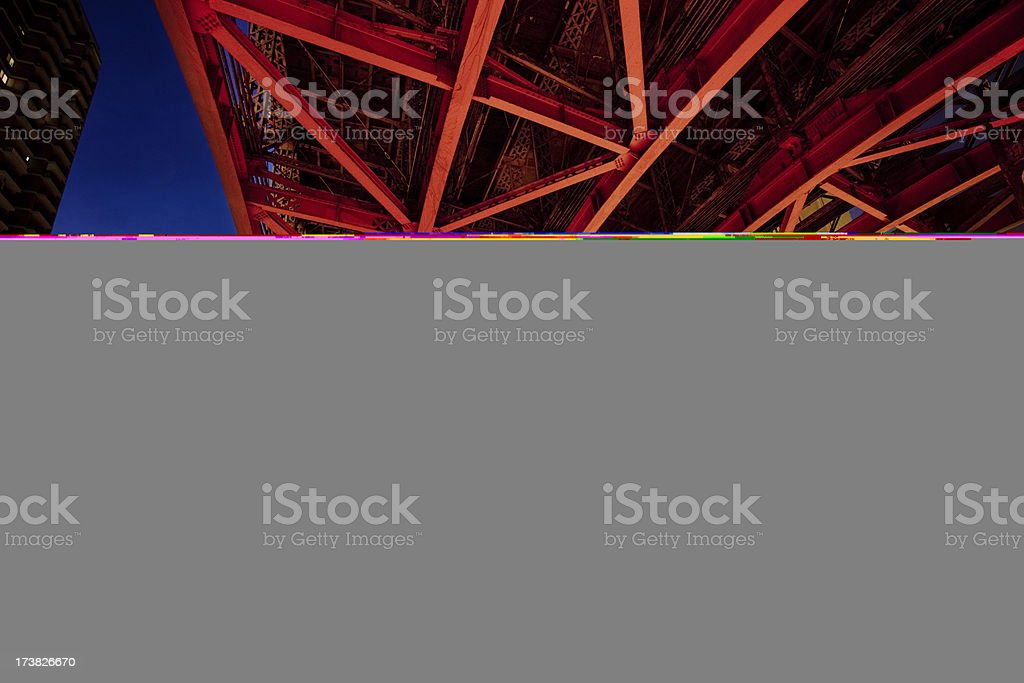Under the bridge downtown royalty-free stock photo