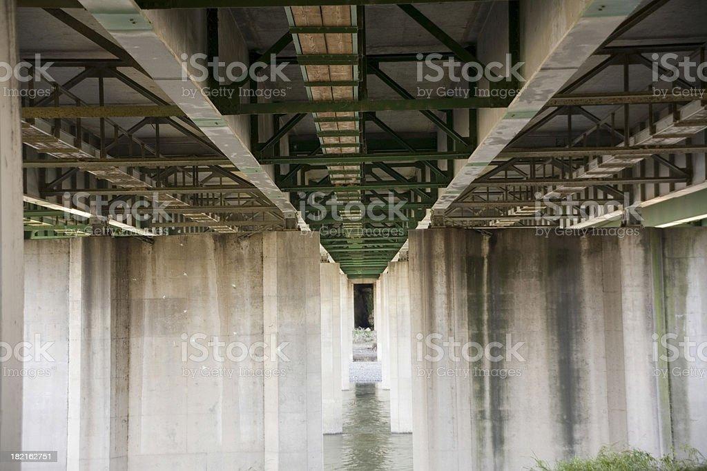 Under the Bridge horizontal far royalty-free stock photo