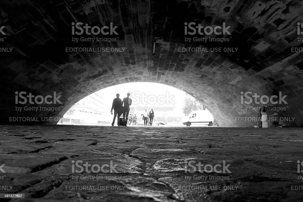 Sotto il ponte foto stock royalty-free